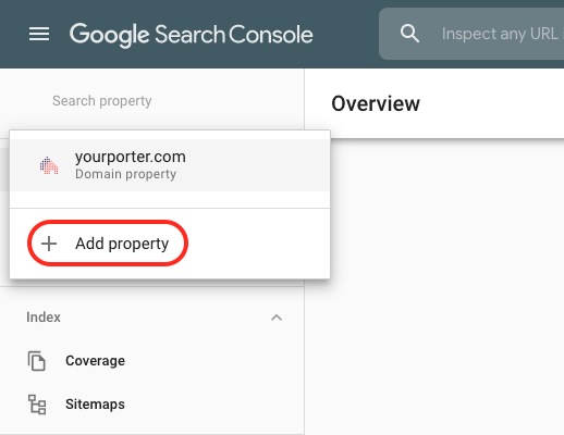 Adding a Property to Google Search Console