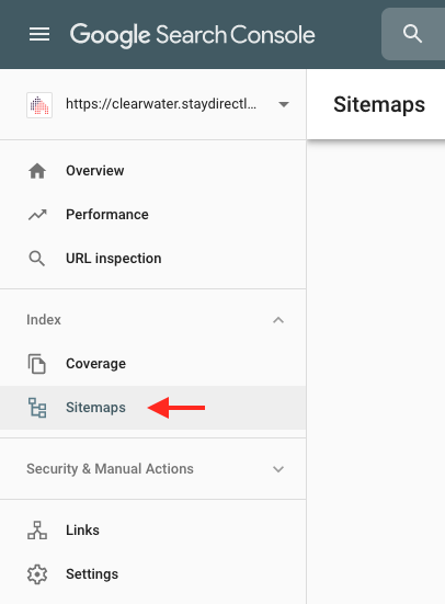 Sitemaps Section in Google Search Console