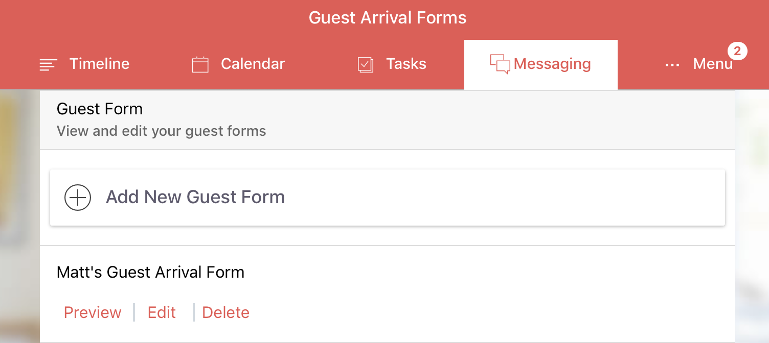 Guest Arrival Form