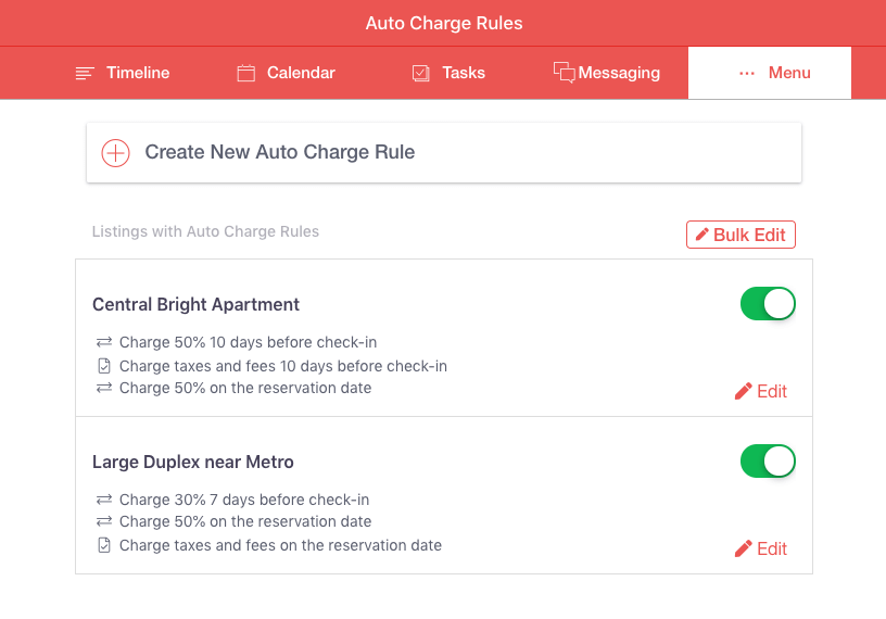 Edit Auto Charge Rules