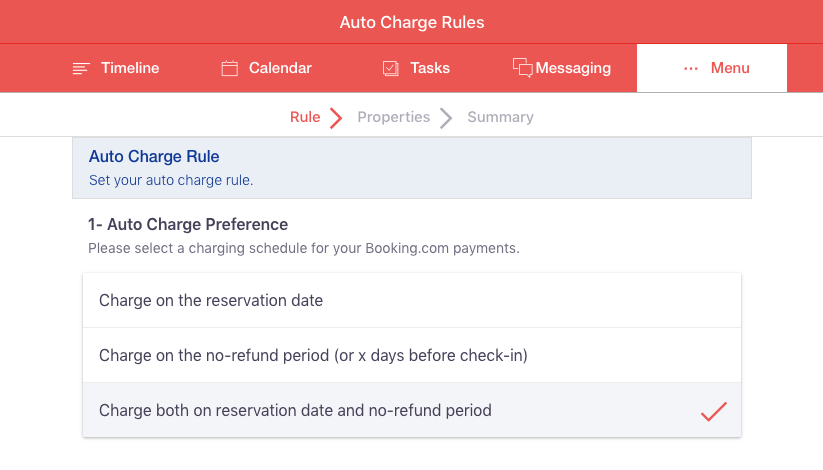 Creating Auto Charge Rule