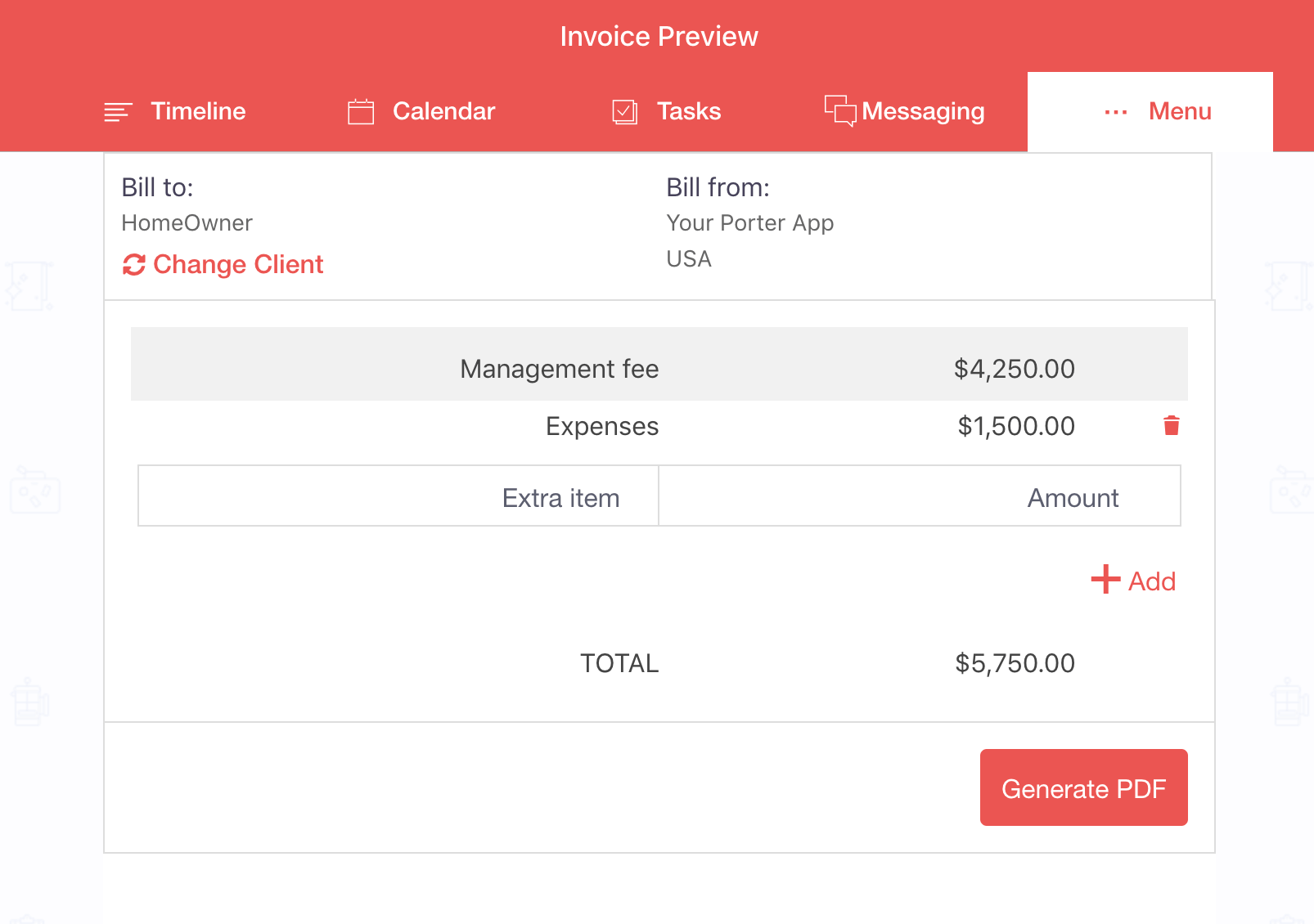 Preview of Invoice